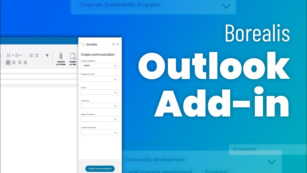 Borealis Outlook Add-in