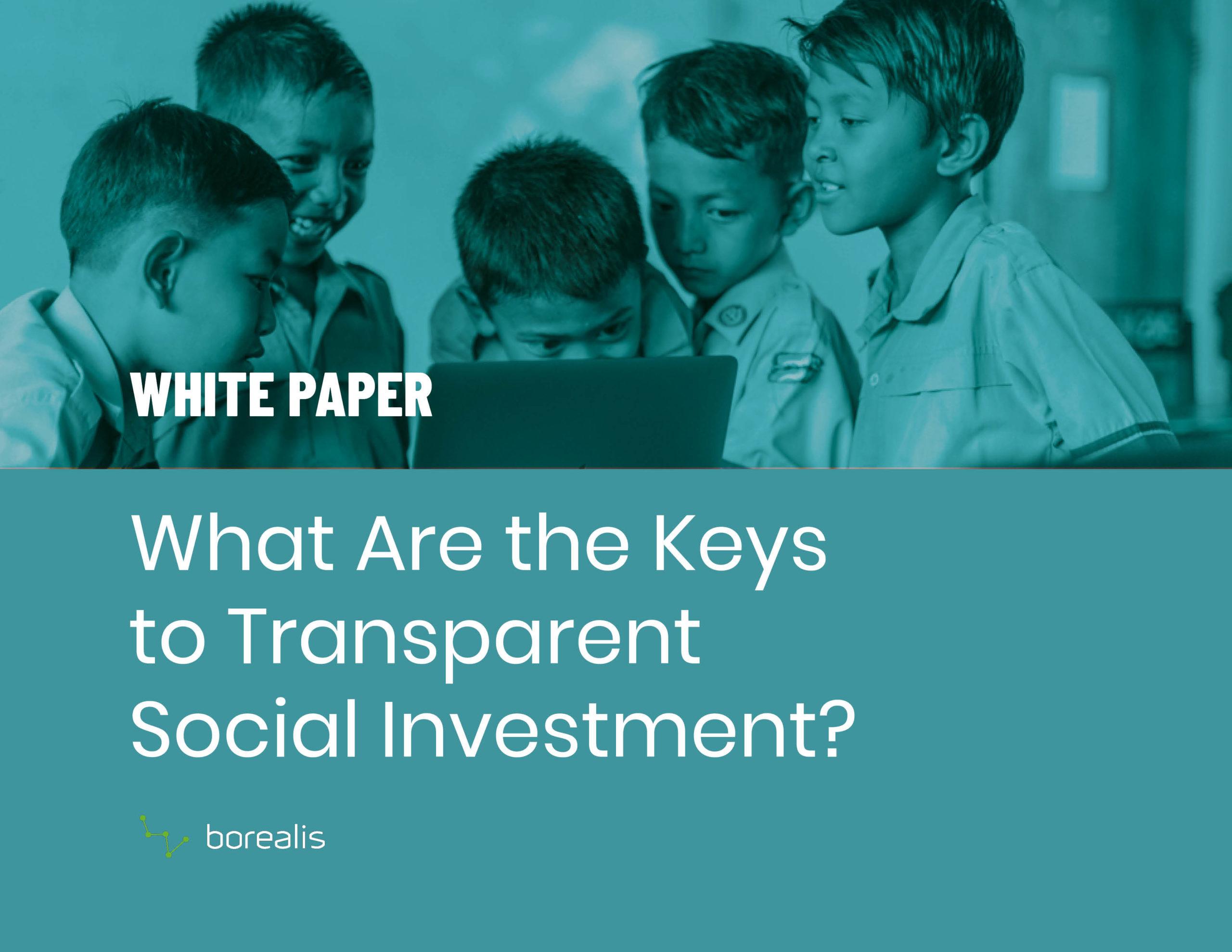 Social Investment White Paper