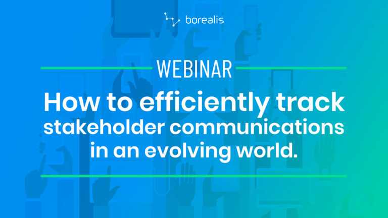 How to efficiently track stakeholder communications in an evolving world