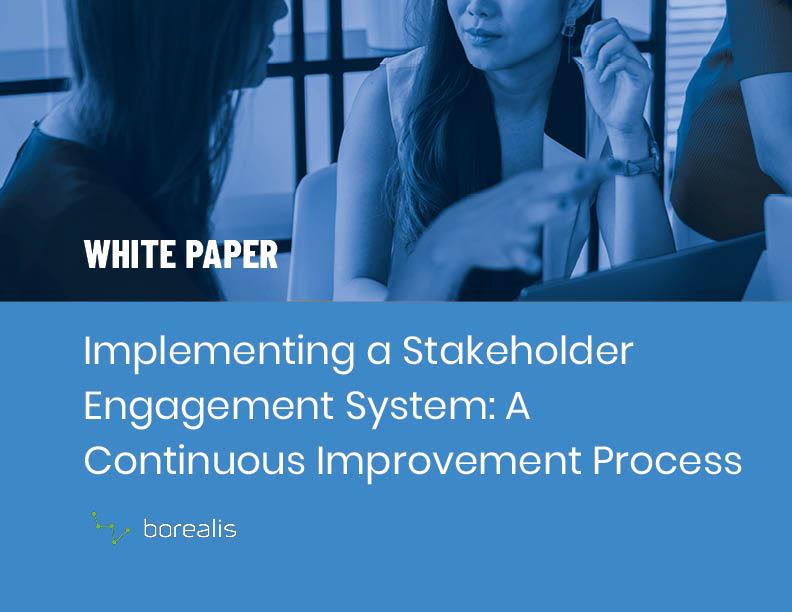 Stakeholder Engagement White Paper